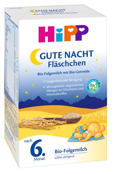 Biberon Hipp Good night, lait de suite bio avec céréales bio, après le 6.mois, 500g