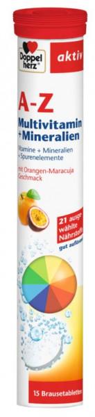 德国Doppelherz双心A-Z复合维生素矿物质微量元素泡腾片 橙子白果口味 15片