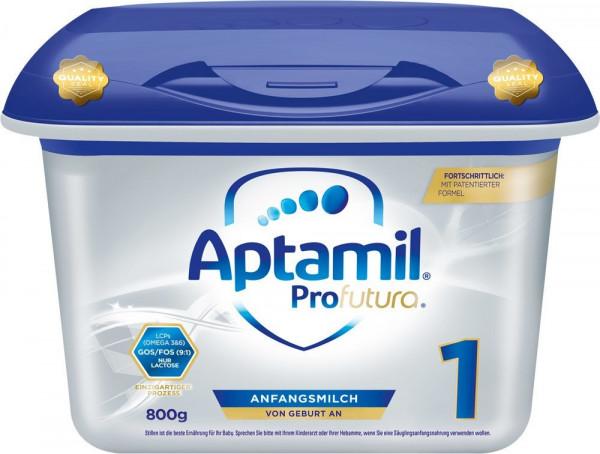 Aptamil Profutura 1 fórmula de leche en el práctico Safebox desde el nacimiento, 800g