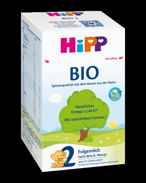 Leche de continuación Hipp Bio 2 después de 6 meses, 600g