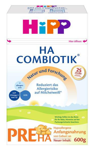 Hipp HA PRE Combiotik低变应原淀粉,从出生开始,600g