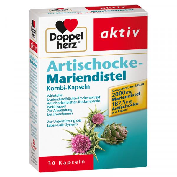 Double heart artichoke-mariendistel, 30 capsules