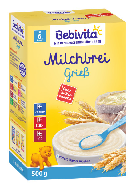Sémola de pulpa de leche Bebivita a partir de 6 meses, 500g