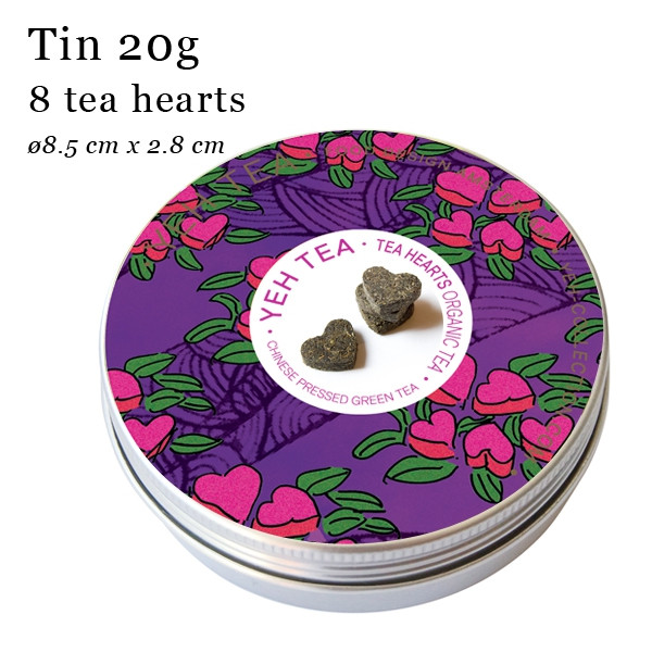Tea Hearts in a Tin (20g) Eight Hearts of Organic Green Tea