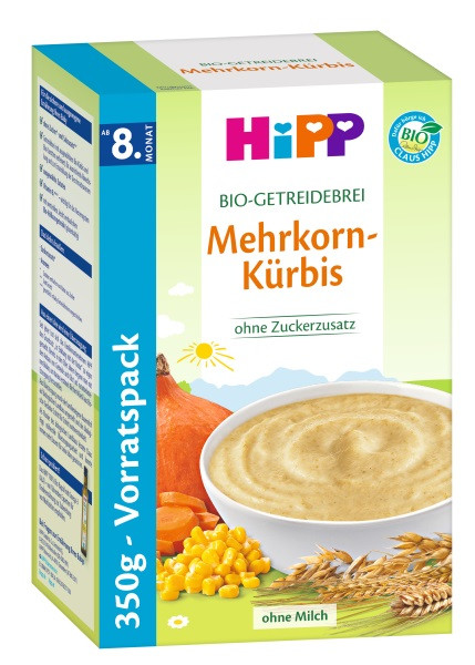 Hipp organic cereal porridge multi-grain pumpkin from the 8th month, 350g