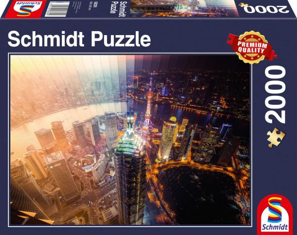 """Puzzle Schmidt Premium """"Día y noche - la rebanada del tiempo"""", 2000 piezas"""