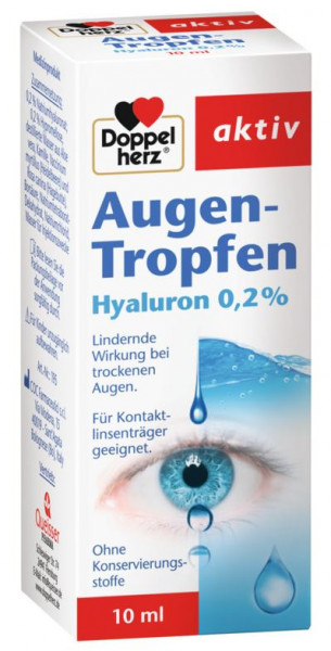 Double heart eye drops hyaluron 0,2%, for dry eyes, 10ml, medical device