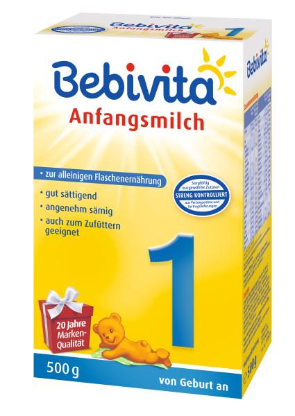 Bebivita 1 Anfangsmilch, von Geburt an, 500g