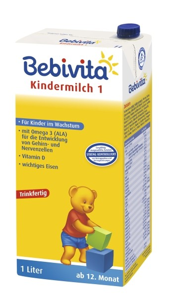 Bebivita Kindermilch 1, trinkfertig, 6er Pack (6 x 1,0L)