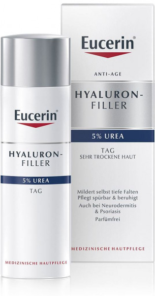 Eucerin Hyaluron Filler 5% Urea Anti-Wrinkle Day Cream, 50 ml