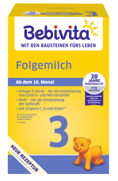 Bebivita 3 follow-on milk, from the 10th month, 500g