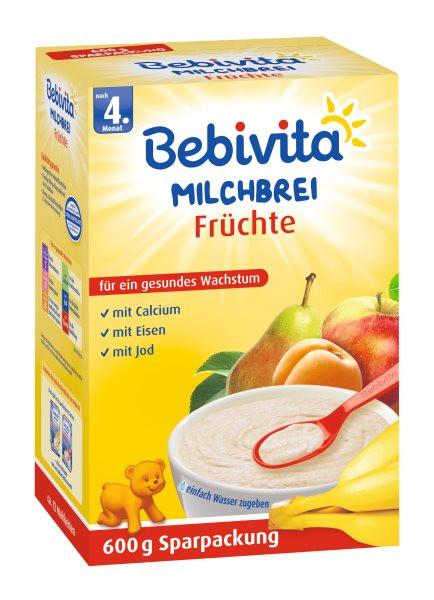 Bebivita Milchbrei Früchte ab 4. Monat, 600g