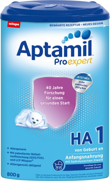 Aptamil ProExpert HA 1 hypoallergene Anfangsnahrung, Eazy Pack, 800g