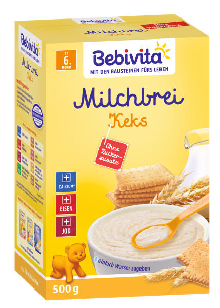 Bebivita milk porridge biscuit from the 6th month, 500g