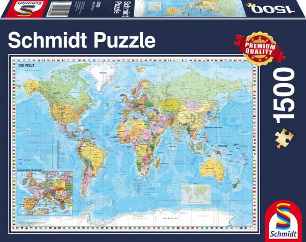 """Rompecabezas Schmidt Premium """"El mundo"""", 1500 piezas"""