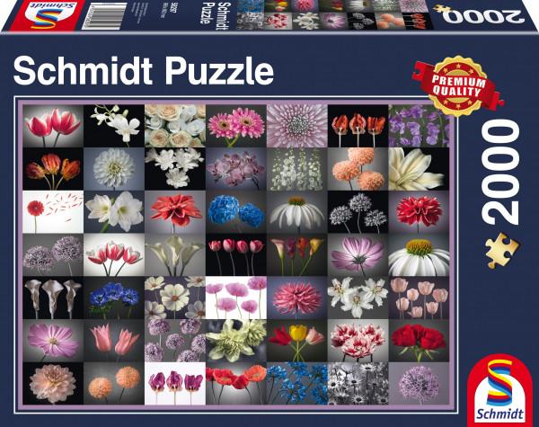 """Premium Schmidt puzzle """"Flower greeting"""", 2000 pieces"""