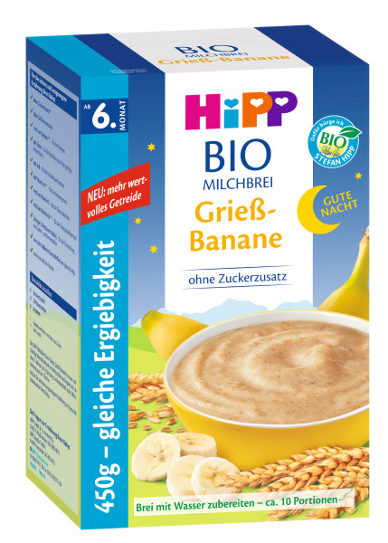 Hipp bedtime porridge semolina banana from the 6th month, 450g