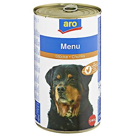 ARO Hundemenü Geflügel, 1240g Dose