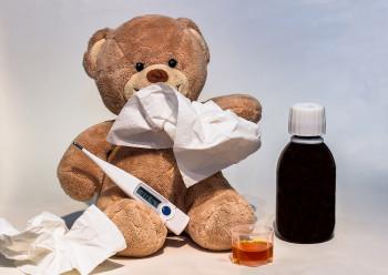 Erkältung Medizin Teddy
