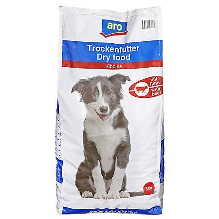 ARO Hundefutter Rind, 5kg Beutel