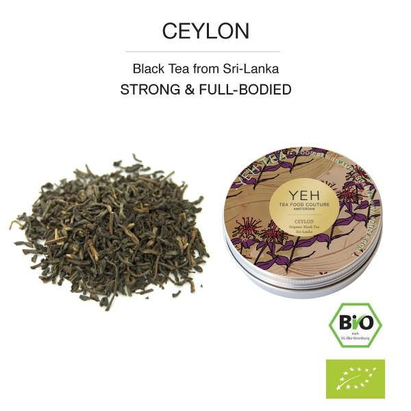 Ceylon Black Organic Tea, 25g tin