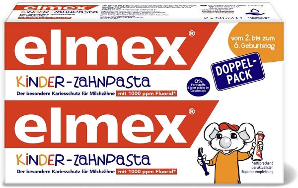 Pasta dentífrica infantil Elmex desde el primer diente hasta el sexto cumpleaños, 50ml