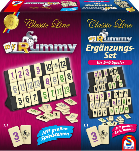 Schmidt Spiele Classic Line Rummy with additional set for 5+6 players Board game