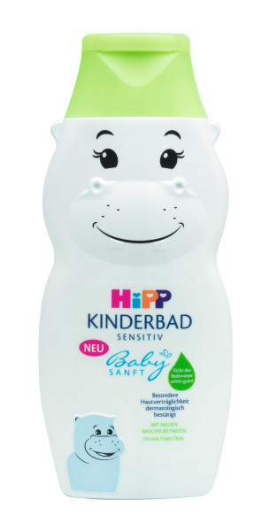 Hipp Babysanft Kinderbad in Nilpferdform Hippo, 300ml