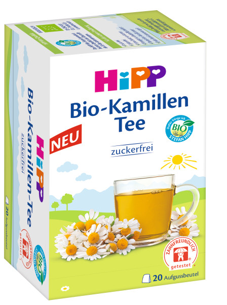 Hipp organic camomile tea, tooth friendly, 20 infusion bags à 1,5g