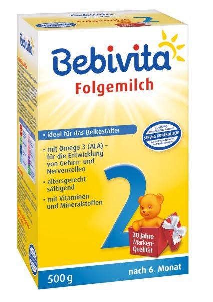 Bebivita 2 Folgemilch nach dem 6. Monat, 500g