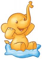 Hipp Elefant mit Decke