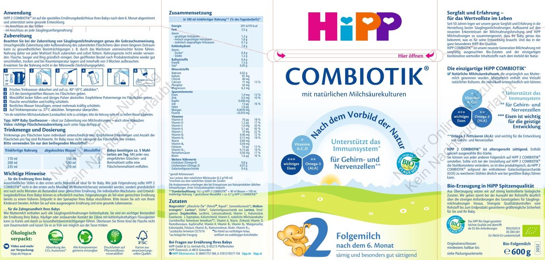 Hipp leche continuacion
