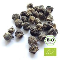 Chinesischer grüner Bio-Tee aromatisiert mit Jasmin-Blüten
