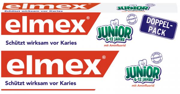 Pasta de dientes Elmex Junior, paquete doble, 2 x 75ml