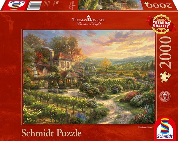 "Premium Schmidt Puzzle ""In the vineyards"", 2000 pieces"