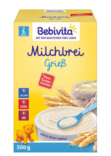 Bebivita Milk pulp semolina from 6 month, 500g