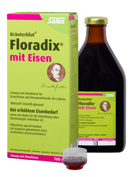 Salus Floradix Herbal Blood with Iron Plant Special Tonic