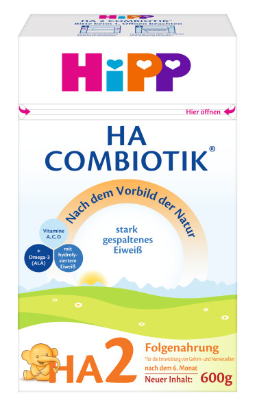 Hipp喜宝益生菌HA(低敏)2段后续奶粉6个月起 500克