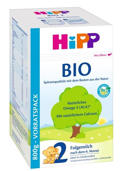 Hipp Bio 2 Folgemilch nach 6. Monat, 800g