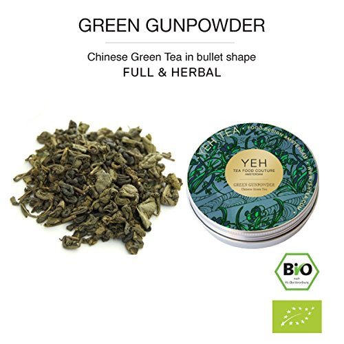 """Green Gunpowder"", 35g tin of Chinese organic green tea"
