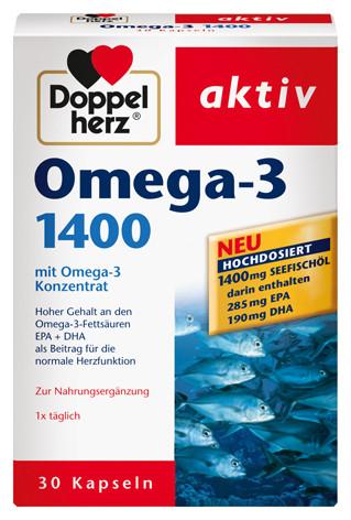 Doppelherz; Omega 3; 1400; Kapseln;