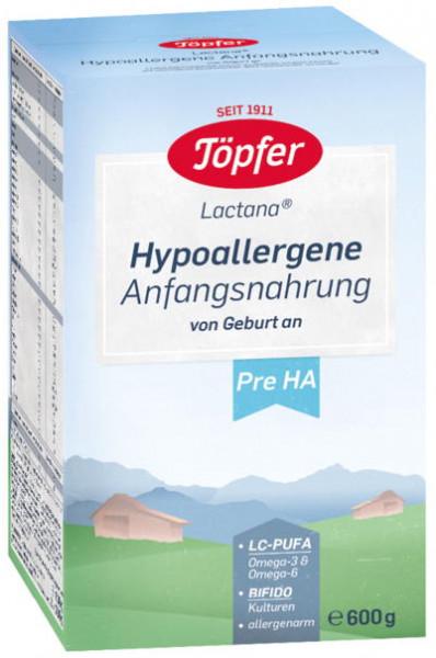 Potter Lactana HA PRE, Hypoallergenic starter food from birth, 600g