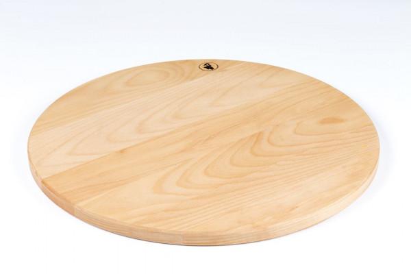 Planche à pizza 50cm, planche à découper en bois, ronde, Lindenfurt, diamètre env. 500 x 19mm, planche Spessart
