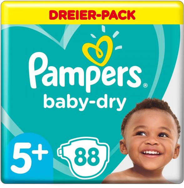 Pampers帮宝适全新设计超薄干爽尿片尿不湿尺寸5+号 适合12-17公斤 88片装