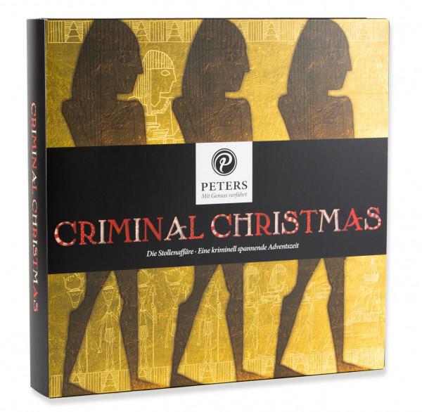 """Calendario Navideño de Adviento Navidad Criminal con el libro """"El asunto Stollen"""" - Inh. 255g"""