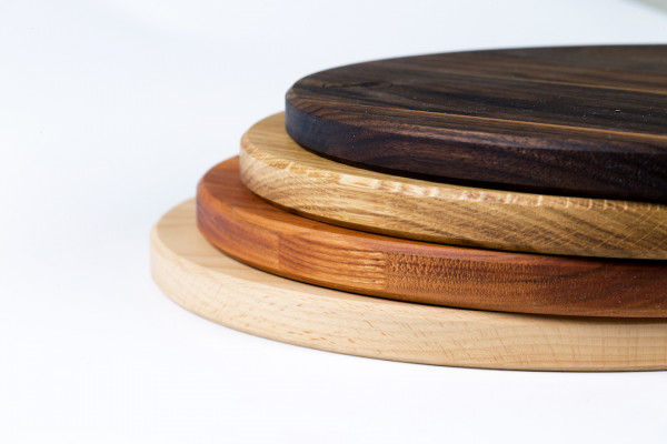Pizza board 50cm, wooden chopping board, round, Lindenfurt, diameter approx. 500 x 19mm, Spessart board