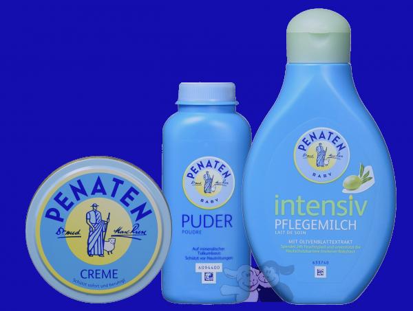 Pequeño set de cuidado Penaten: polvo, crema y leche de cuidados intensivos
