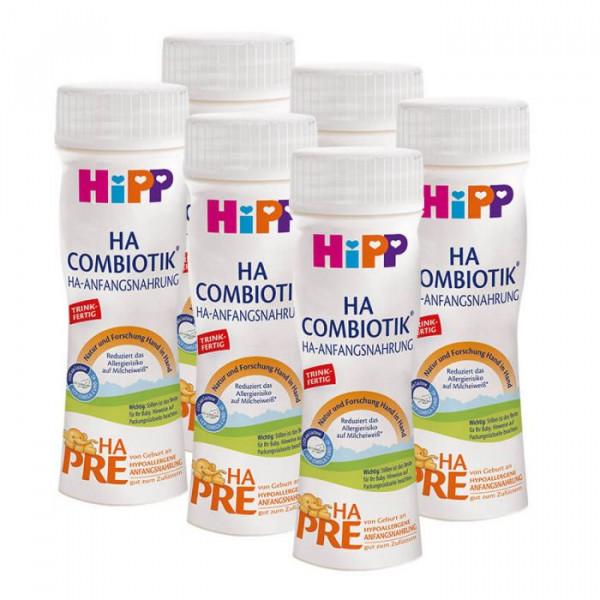 Hipp Combiotik HA PRE ready-to-drink milk, 200ml, 6-pack (6 x 200ml)