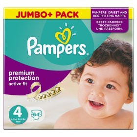 PAMPERS ACTIVEFIT GR.4 JUMBO PLUS PACK 7-18KG